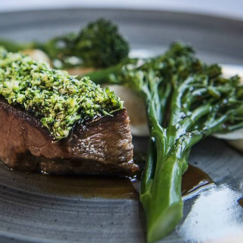 Tenderstem Broccoli and Steak dinner
