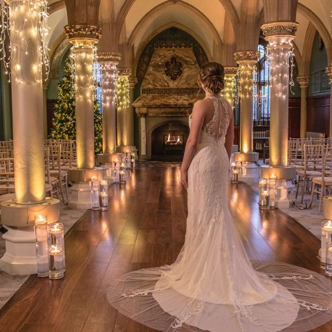 The Old Library - Bride in wedding dress