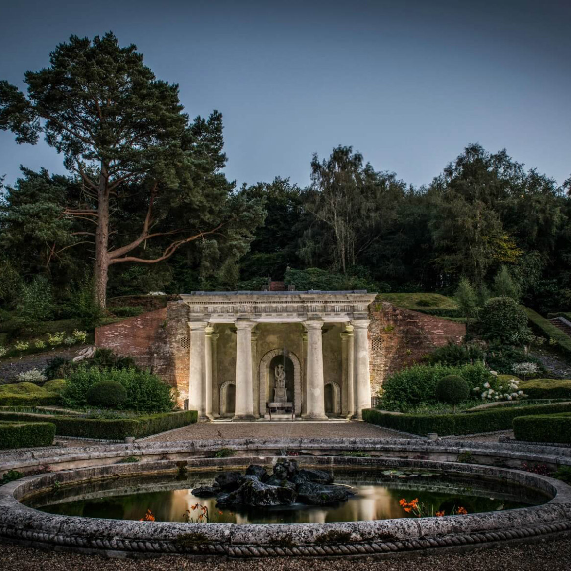 The Estate and Italian Gardens at night