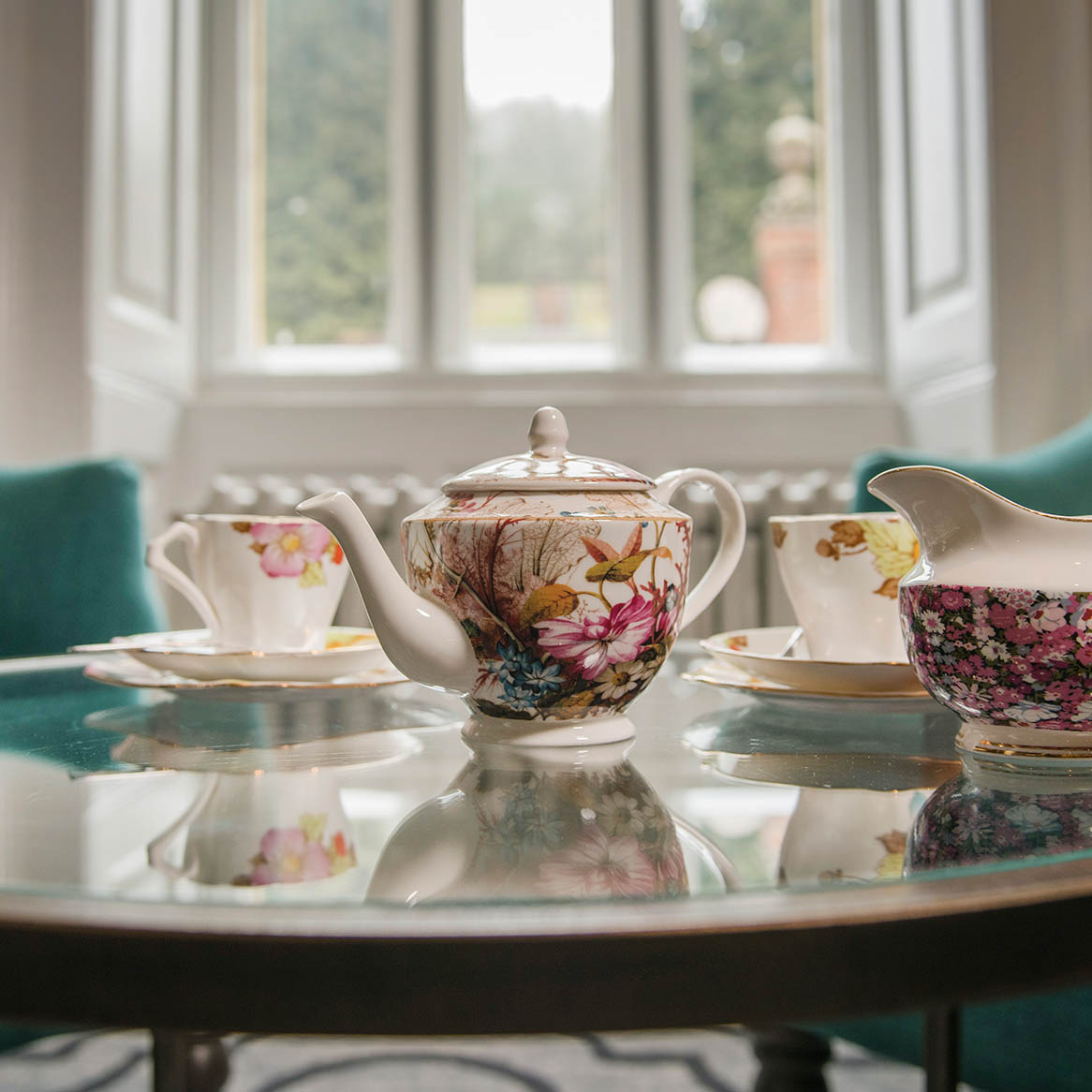Afternoon tea celebrating an occasion at Wotton House