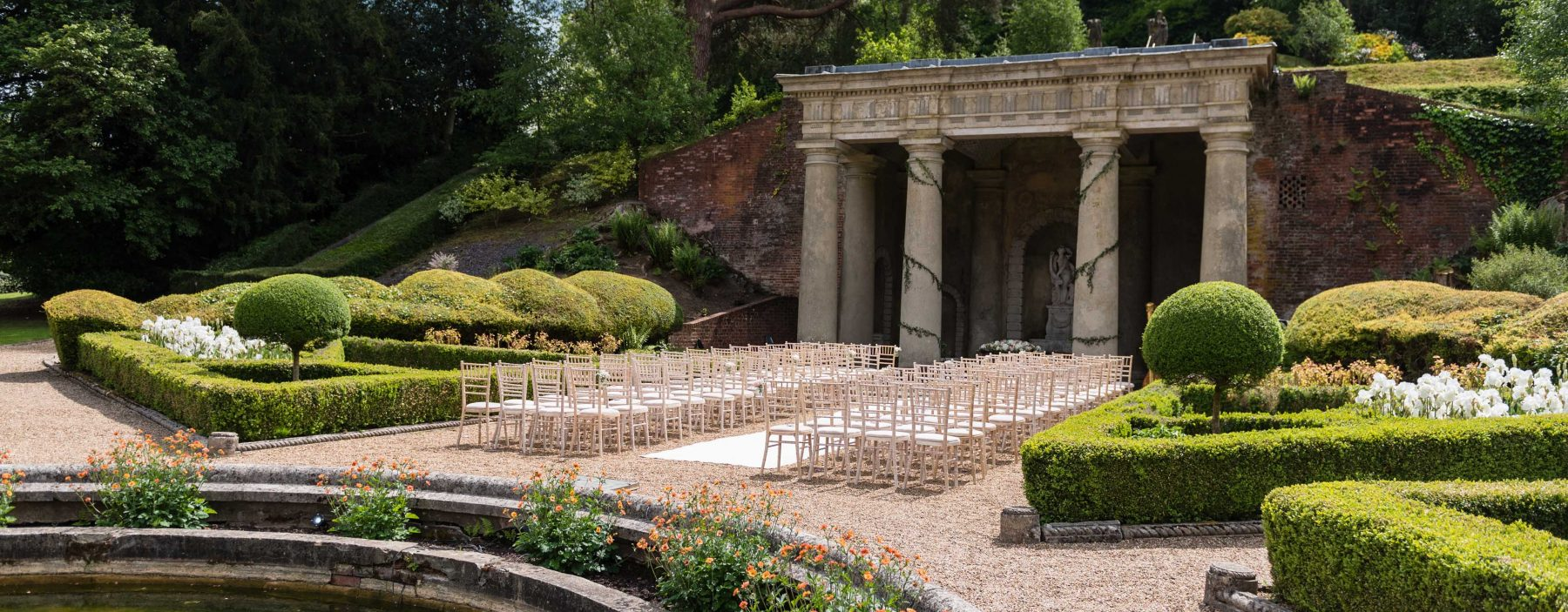 Italian Gardens saying your vows