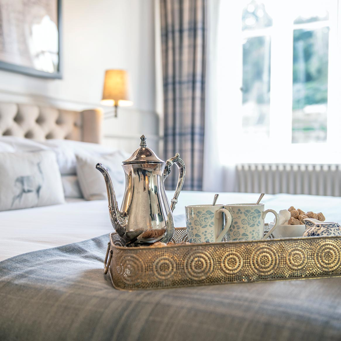 The Jasmine Suite with tea tray