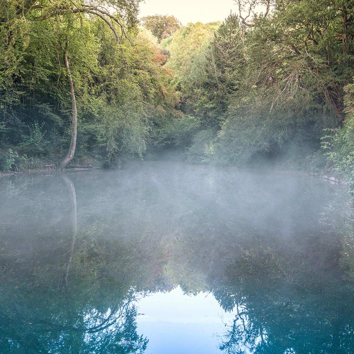 The fog over the pool at Silent Pool