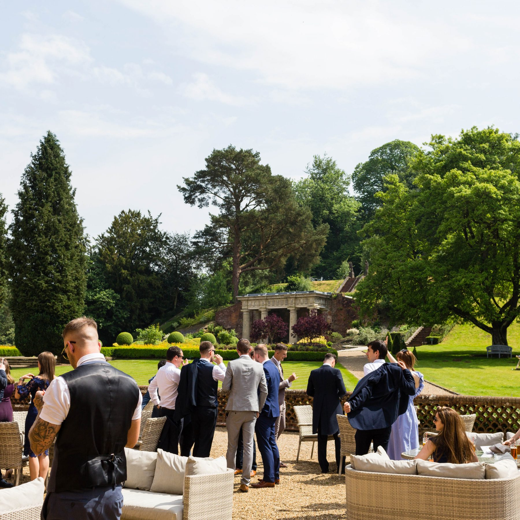Drinks reception at Wotton House