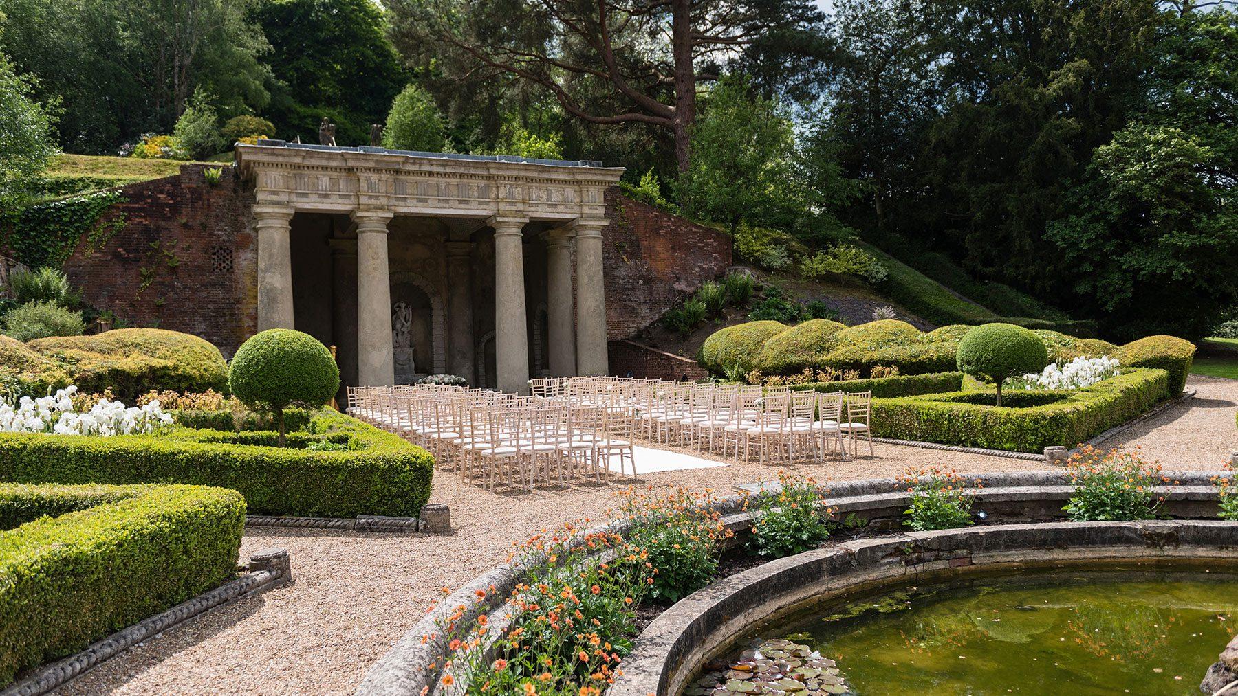 A wedding in summer in the Italian Gardens